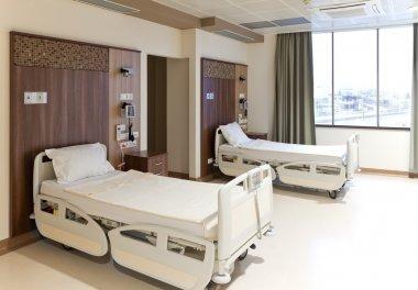 Modern empty hospital room