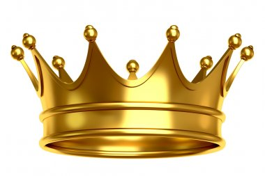 Gold crown isolated on white background stock vector