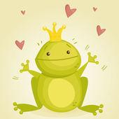 Fotografia principe ranocchio simpatico cartone animato