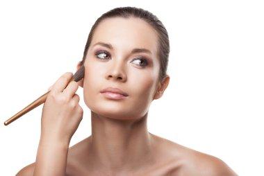 Makeup. Cosmetic. Applying Make-up