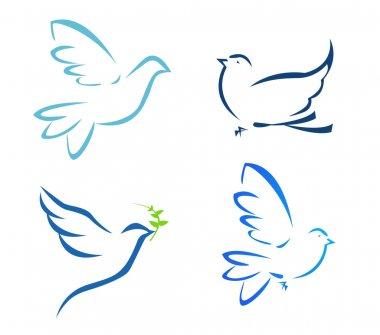 illustration of flying dove