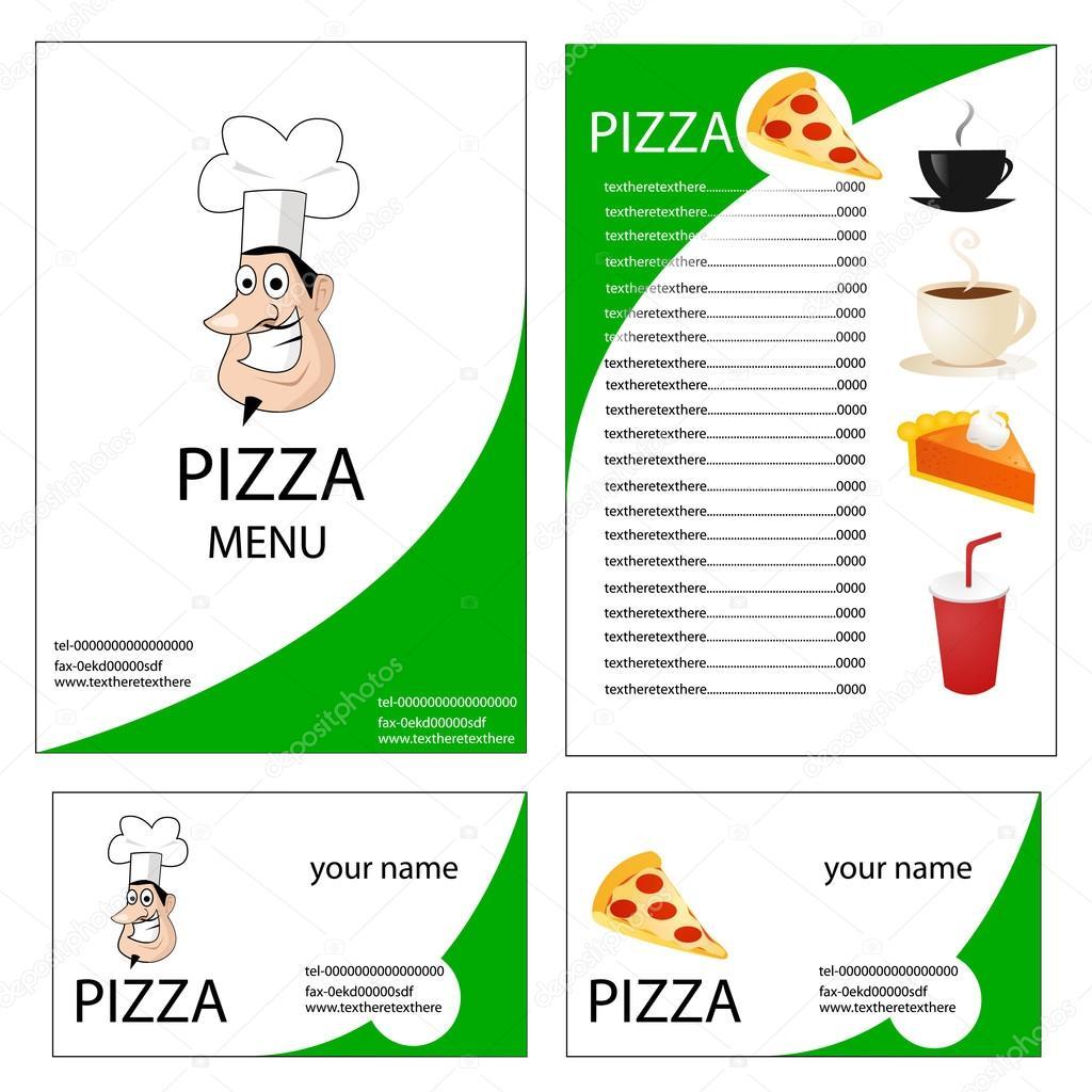 Menu Et Carte De Visite Pour Pizzeria Image Nezezon
