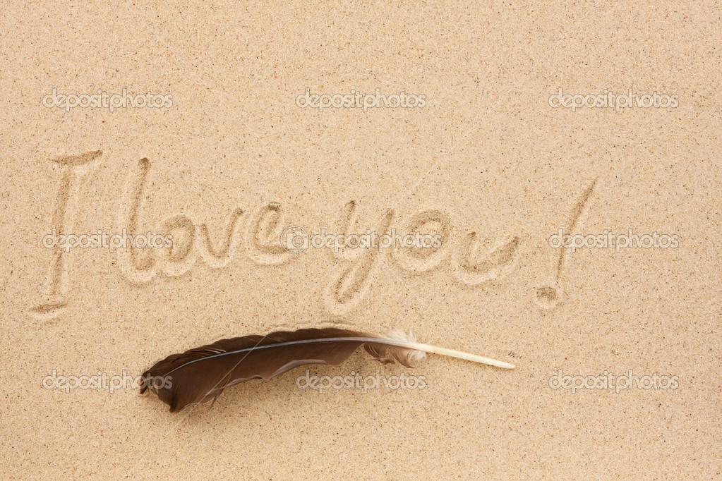 Eu Te Amo Escrito Na Areia Imagens De Stock Royalty Free: A Palavra Eu Te Amo Escrito Na Areia