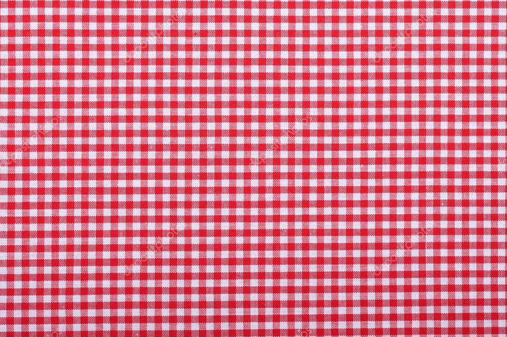 Red checkered fabric — Stock Photo © tashka2000 #19350239
