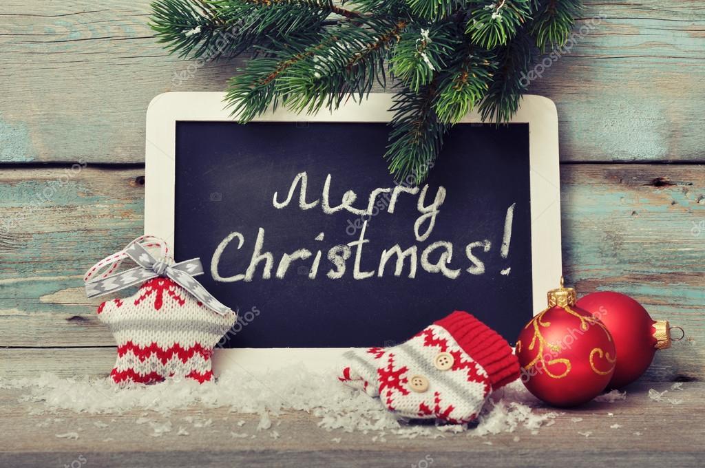 pizarrón enmarcado con la decoración de Navidad — Foto de stock ...