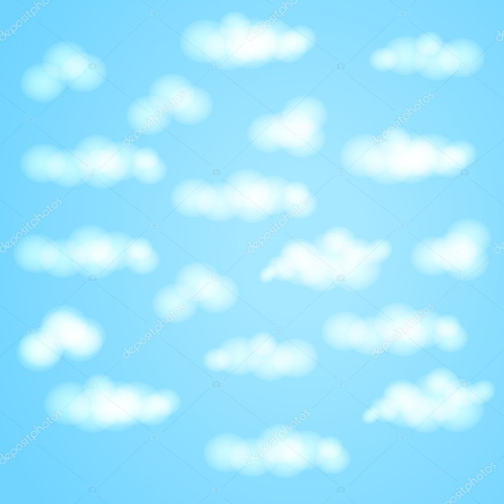 The blue sky with clouds a background a pattern vector