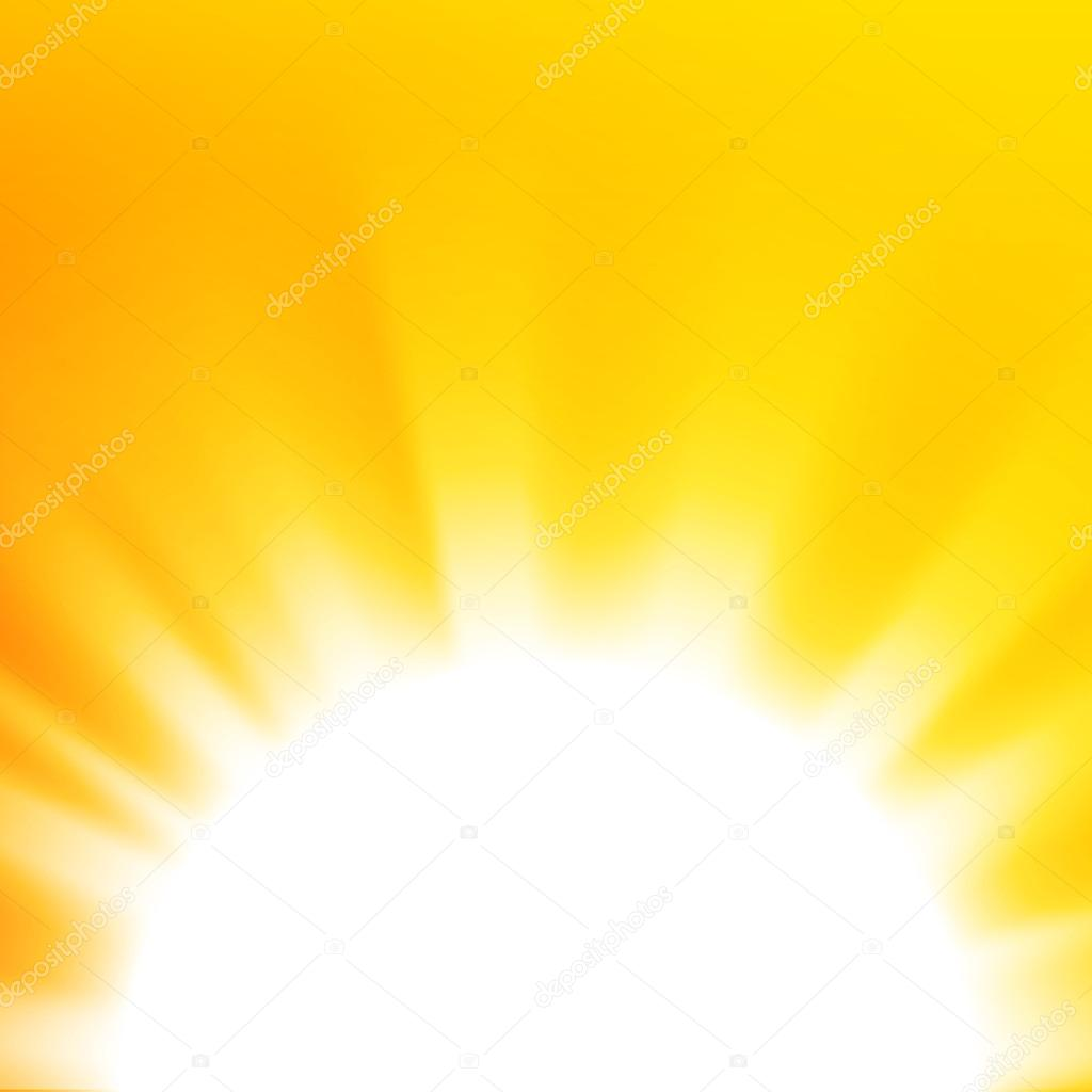 Vector abstract background with orange sun