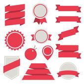 Fotografie vektorové samolepky a odznaky sada 3. ploché styl
