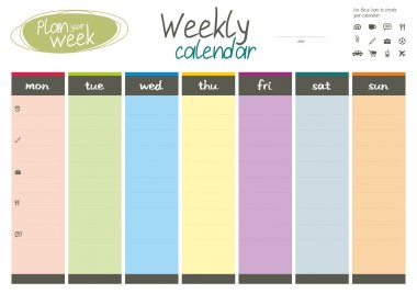 Plan your week. Weekly calendar.