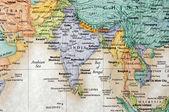 Fényképek India és a környező országok megjelenítése