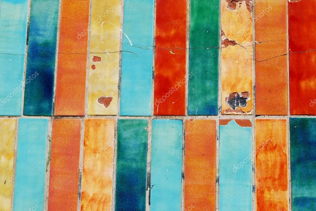 fondo de azulejos de colores u foto de stock