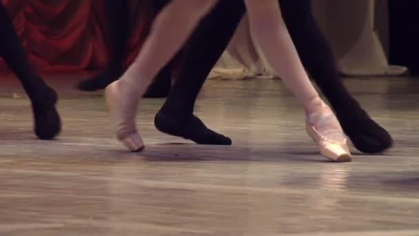 Dancing couples show classical ballet pas