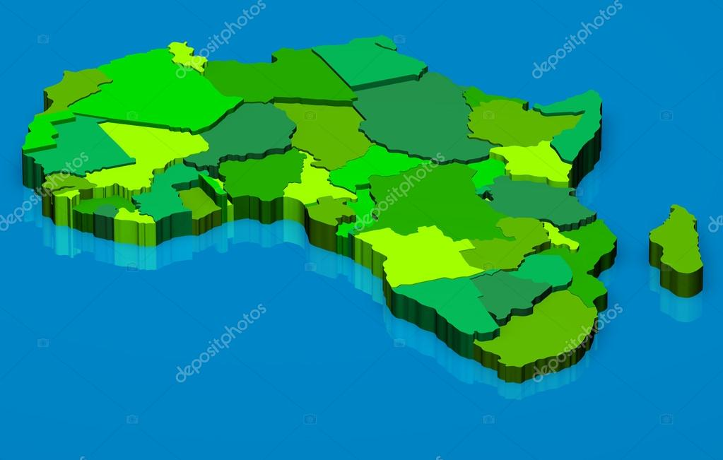 Map Of Africa 3d.Political Map Of Africa 3d Stock Photo C Marphotography 13827063
