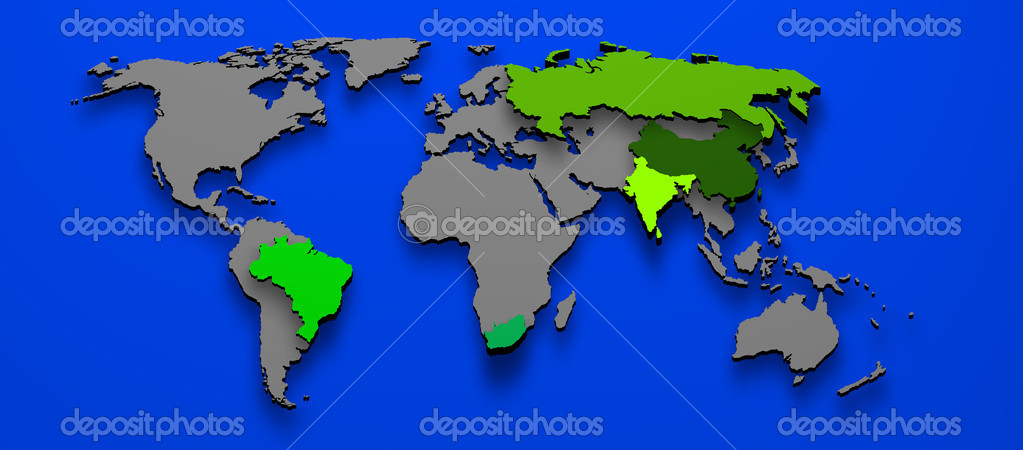 Political map brics brazil china russia india south africa stock 3d illustration political map of brics brazil china russia india south africa photo by marphotography gumiabroncs Gallery