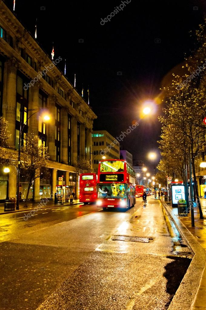 Oxford Street Night View In London Uk Stock Editorial