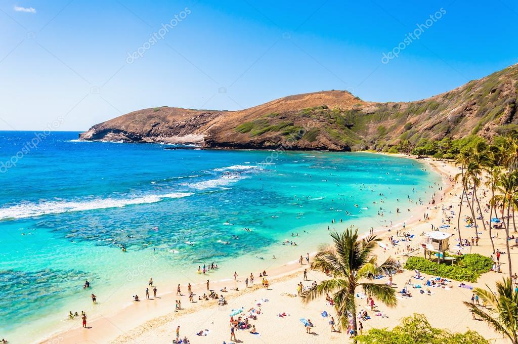 Snorkeling paradise Hanauma bay, Oahu, Hawaii