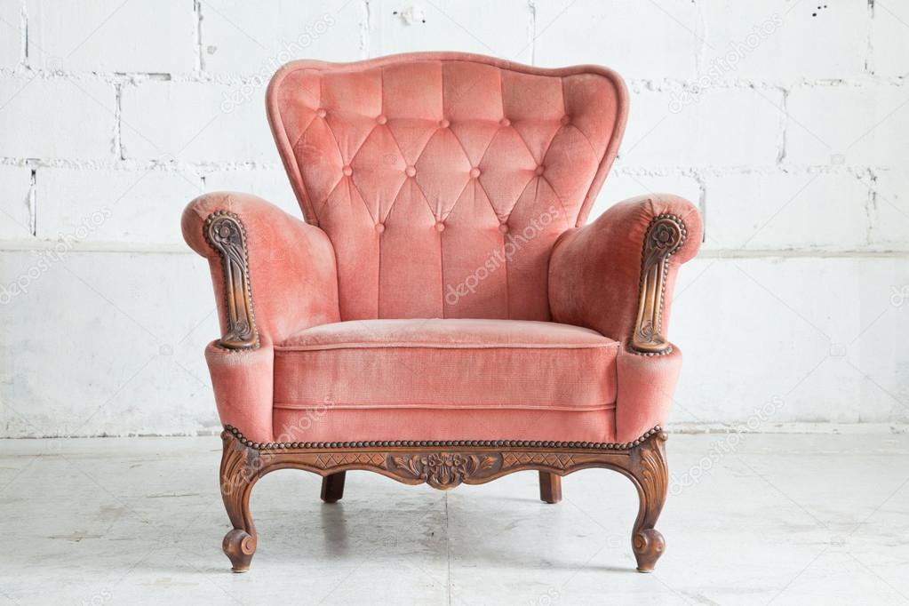 Pink Armchair sofa — Stock Photo © vichie81 #14959567
