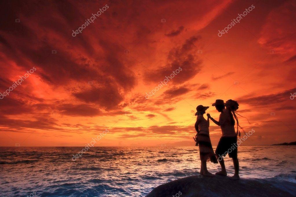 couples on the Beach