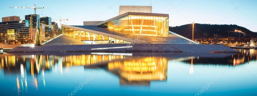 Panorama of Oslo Opera Norway