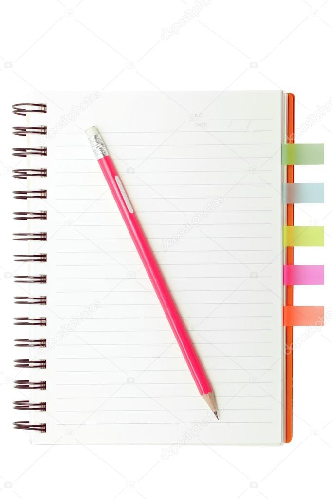 Índice libro y lápiz — Fotos de Stock © vichie81 #30534017