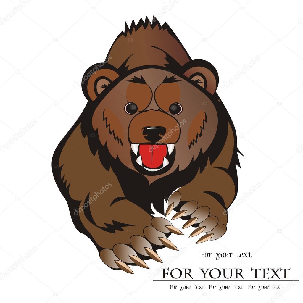 Medved Hnedy Lesni Zvirata Kreslena Izolovanych Na Bilem Pozadi