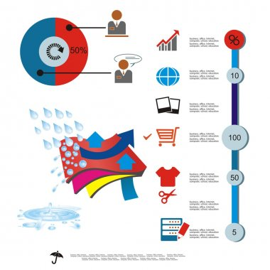 Vector image of a sample of waterproof fabric web sale template