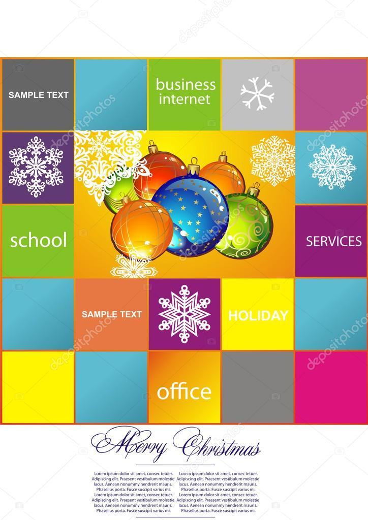 mit Weihnachten Christoff und glückliches Vektor Neujahr Sphären ...