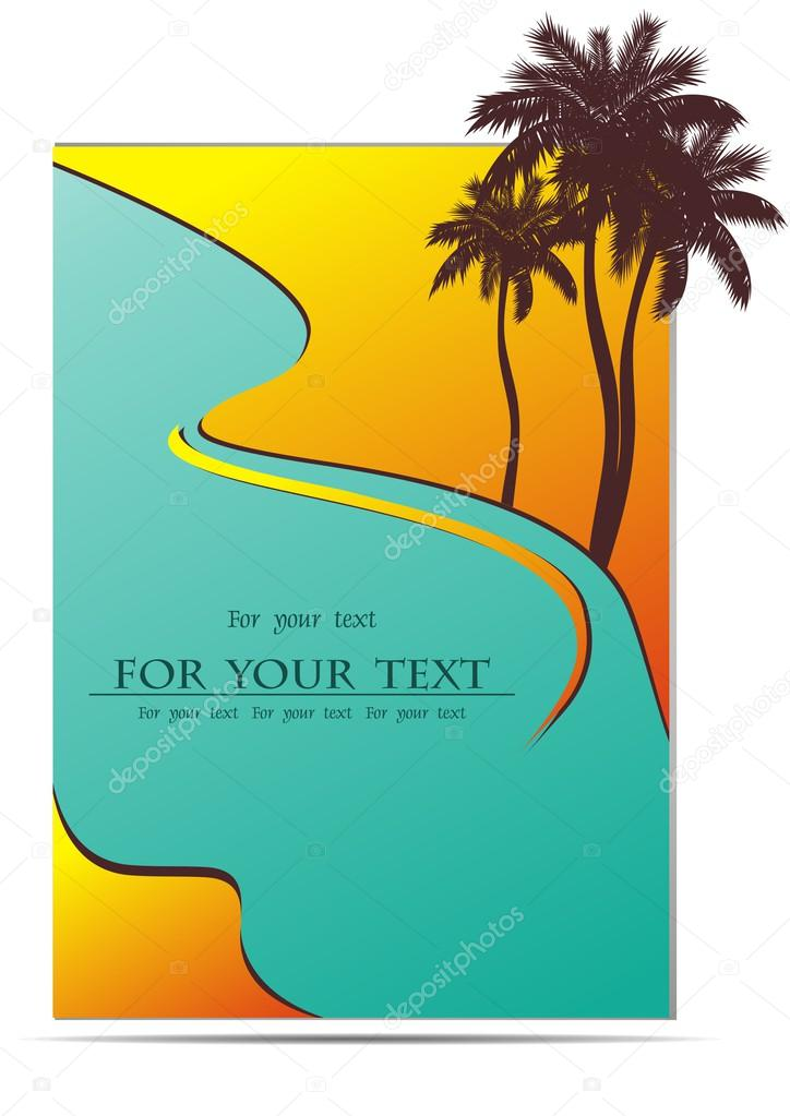 Vector design of summer holiday sea background