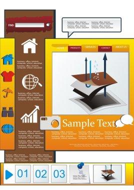 Vector nepromkayemy fabric web design