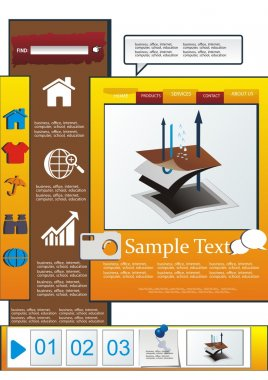 Vector waterproof surfaces of fabric web page