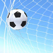 Fotografie 3d rendering of a XXX flag on soccer ball in a net