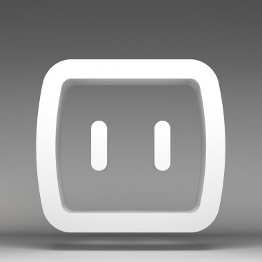 3d electrical outlet icon
