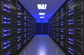 Fényképek 3D-s Modern belső szerver szoba