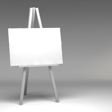 3d Blank art board, wooden easel