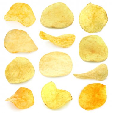 Set of potato chips
