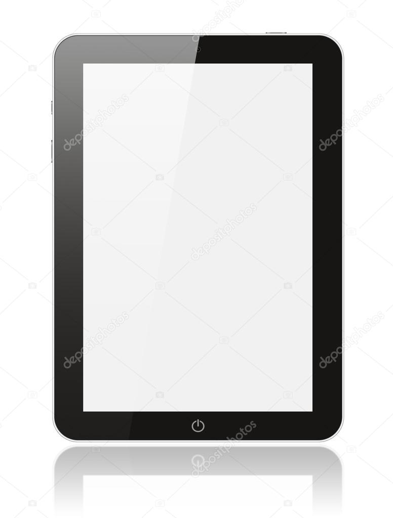 Black digital tablet pc