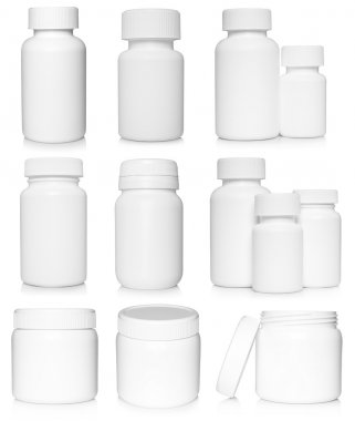 White medical containers set