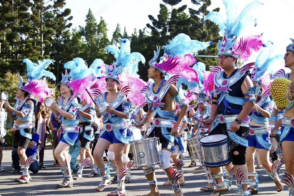 Samba carnival dancer