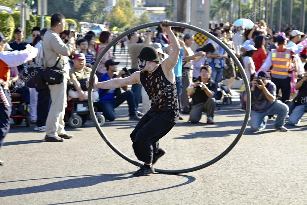 Circus carnival dancer