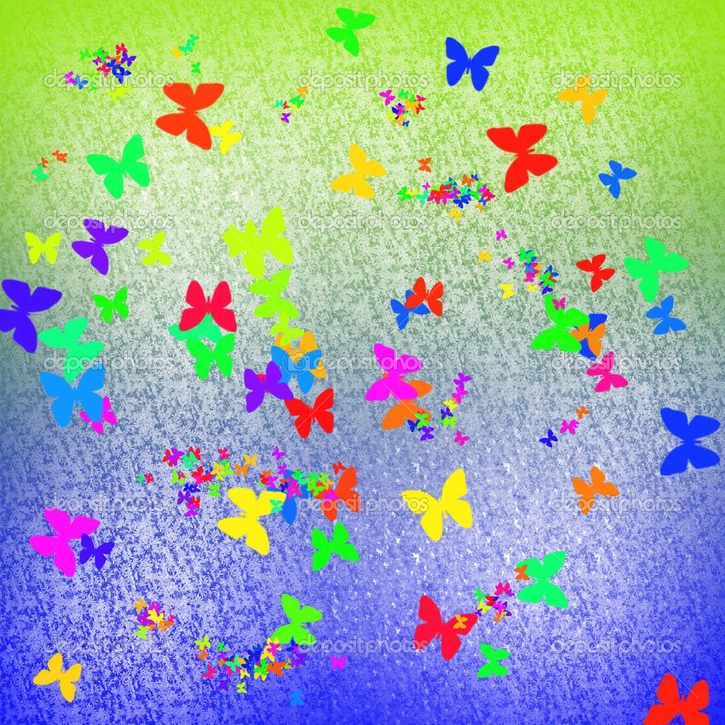 Colorate farfalle astratte foto stock photoncatcher63 for Foto farfalle colorate