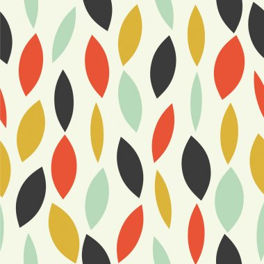 Colorful seamless pattern with abstract leaves