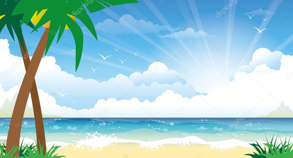 Beautiful colorful summer seascape