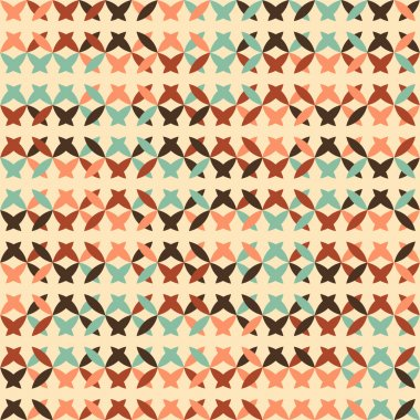 Abstract seamless pattern with cross stitch