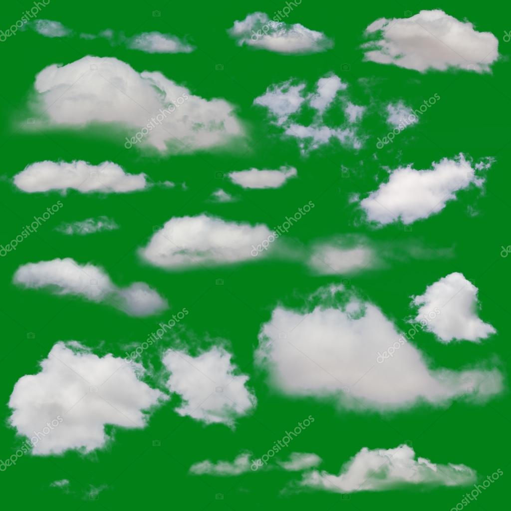 White clouds isolated