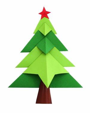 Christmas tree white isolated