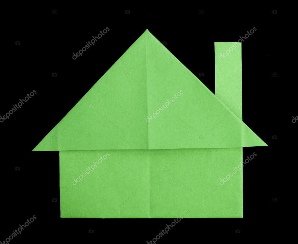 plegado de papel de una casa