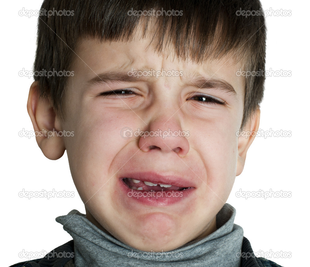 Top visage d'enfant qui pleure — Photo #16946453 JT01