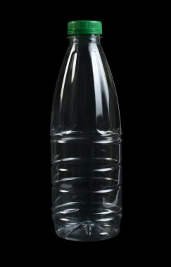Empty transparent plastic bottle