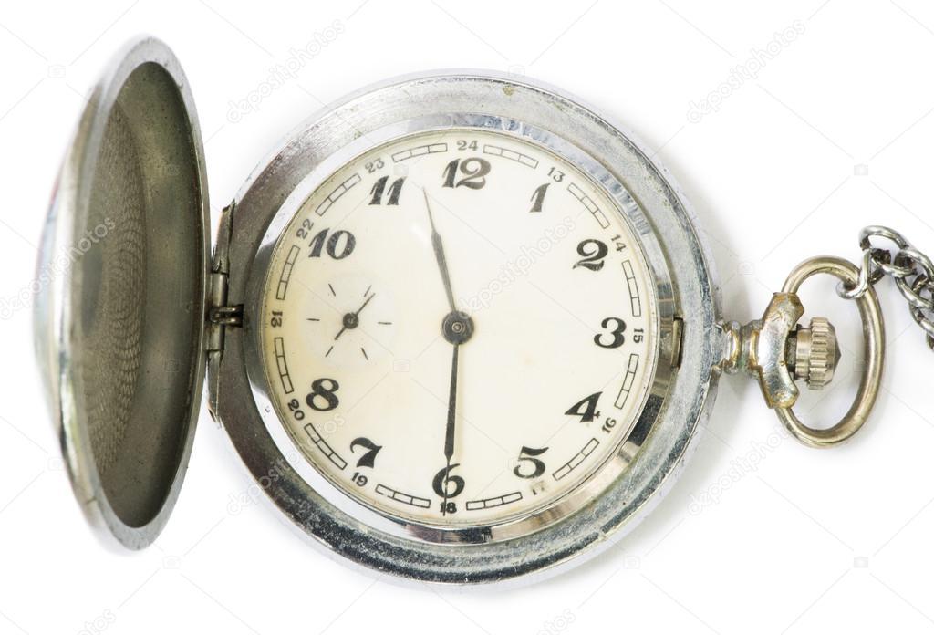 Mechanical clock with cover. White isolated — Фото від deyangeorgiev2 1d6ca1a78cbda