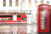 Kabinková červený telefon v Londýně.